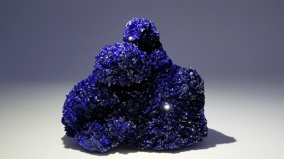 Azurite with Malachite Mineral Specimen from Liufengshan Mine, China