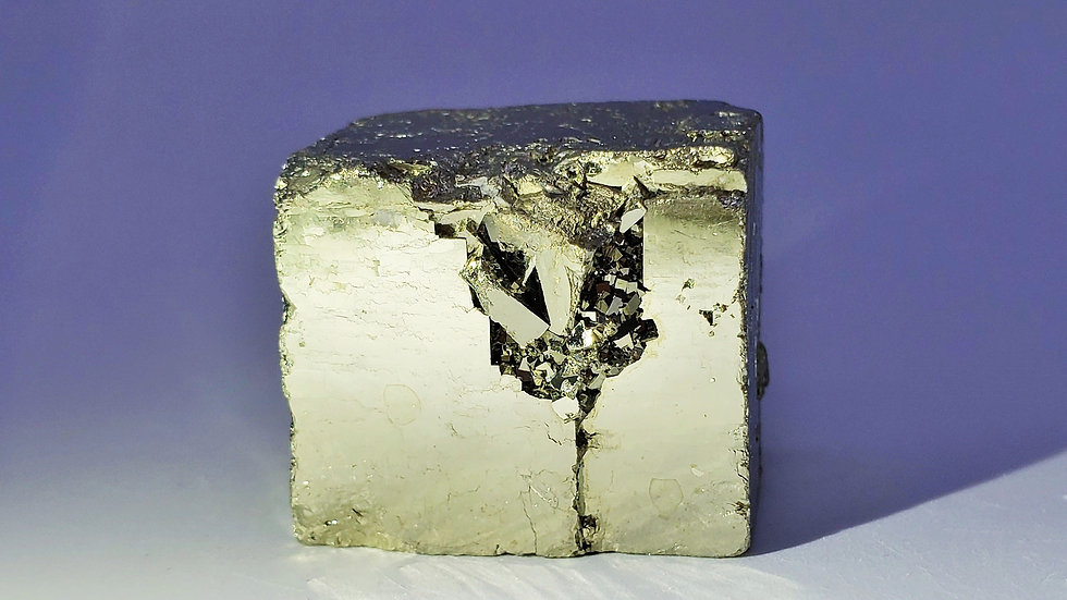 Pyrite and Dolomite from Shangbao Mine, China