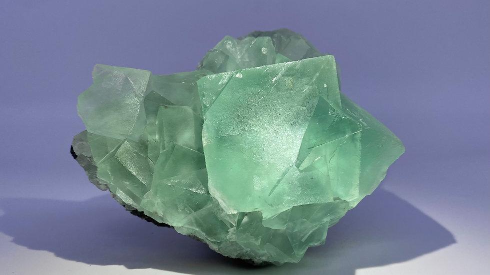 Seafoam Green Fluorite from Xianghuapu Mine, Hunan, China