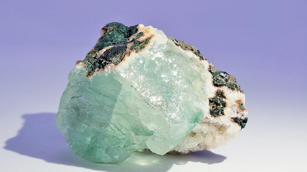 Green Apophyllite on Stilbite from Pashan Quarries, Maharashtra, India
