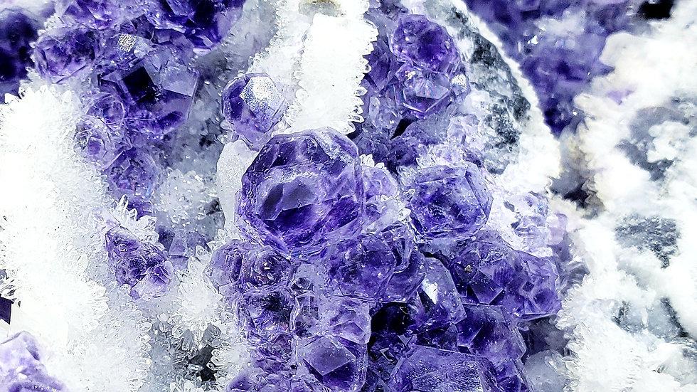 Fluorite with Druzy Quartz from Xiayang, Yongchun Co., Quanzhou, Fujian, China