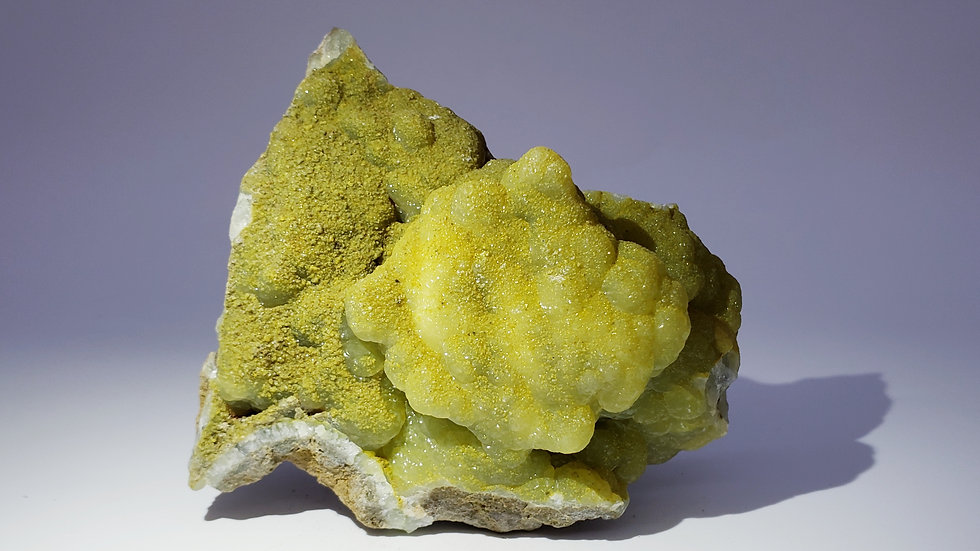 Collector's Piece: Smithsonite on Matrix from Wenshan Mine, Yunnan, China