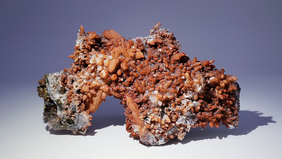 Red Hematite Included Quartz from Dongxiang Co., China