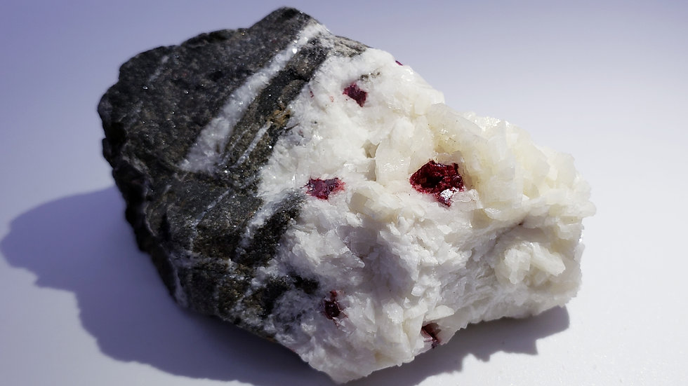 Cinnabar Crystals on Dolomite Specimen from Wanshan Mine, Tongren, China