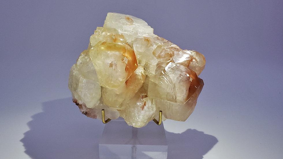 Collector's Piece: Bi-colored Calcite from Daye Copper Mine