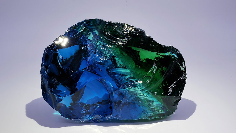 Collector's Piece: Natural Glass var. Obsidian from Caldas, Columbia