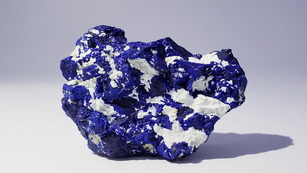 Collector's Piece: Azurite with Kaolinite from Chengmenshan Mine, Jiangxi, China