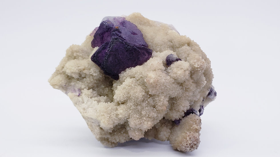 Fluorite on Quartz from Qinglong Mine, Guizhou