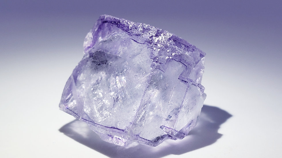 Fluorite with Wolframite var. Ferberite and Calcite from Yaogangxian Mine
