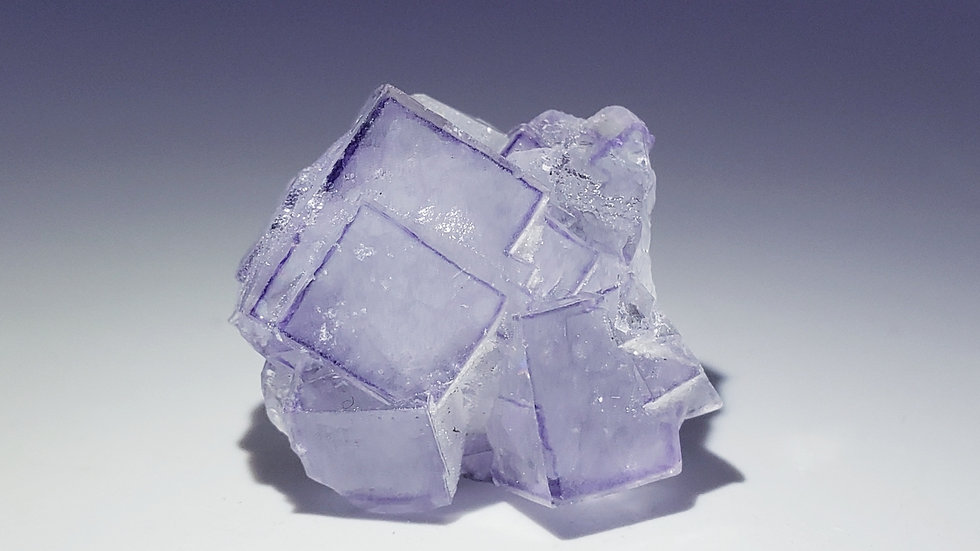 Fluorite with Calcite and Quartz from Yaogangxian Mine