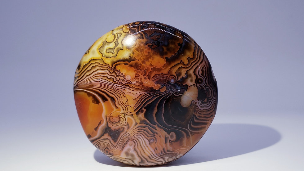 Silk Banded Lace Agate from Madagascar