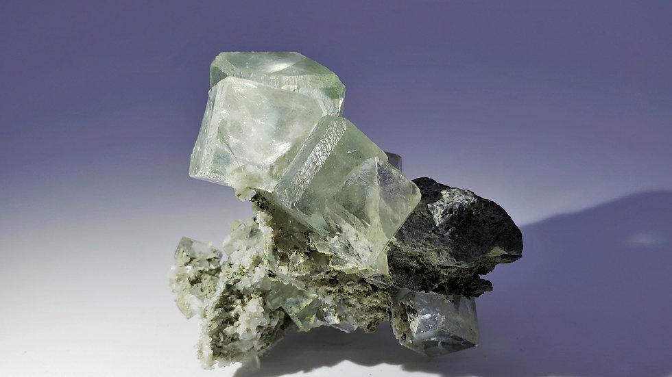 Fluorite on Matrix from Xianghuapu Mine, China