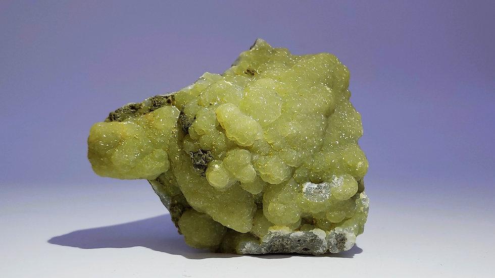 Smithsonite on Matrix from Wenshan Mine, Yunnan, China