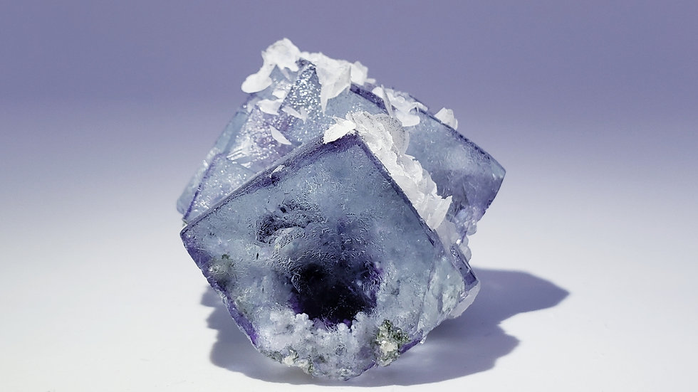 Phantom Fluorite, Calcite, Pyrite and Chalcopyrite from Yaogangxian Mine