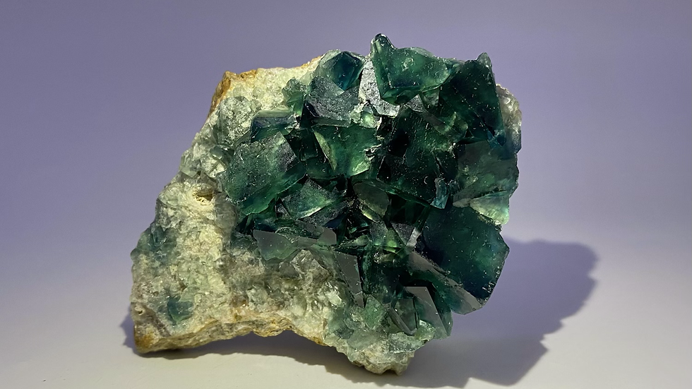 Collector's Piece: Green Fluorite from Mandrosonoro, Madagascar