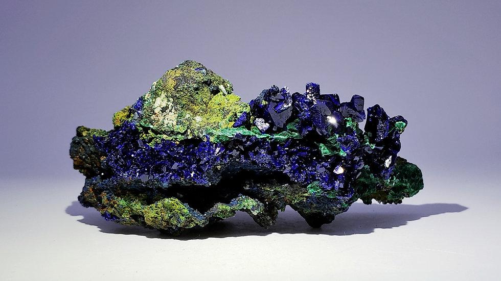 Azurite on Malachite from Sepon Mine, Laos