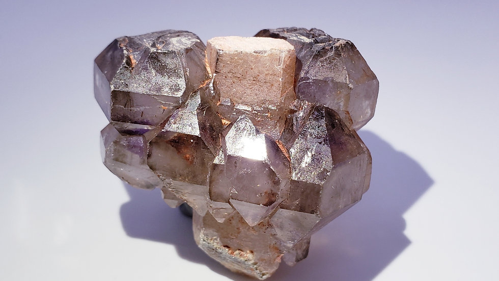 Quartz var. Smoky Amethyst Scepter from Madagascar