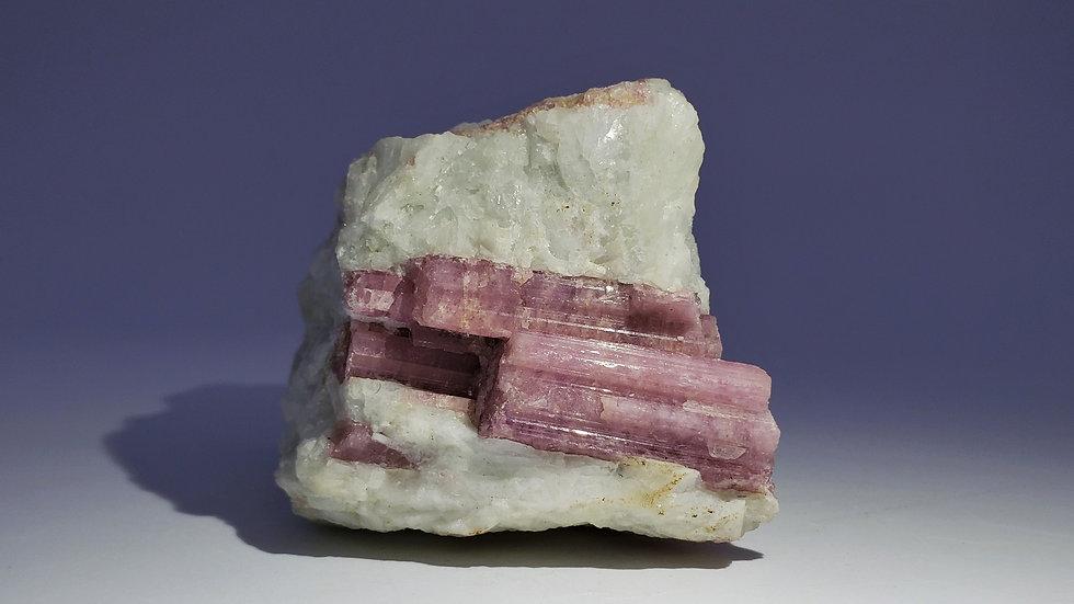 Elbaite var. Rubellite Tourmaline in Quartz from Minas Gerais,Brazil