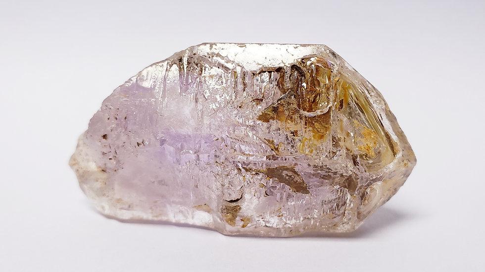 Large Enhydro Brandberg Amethyst Var. Fenster Quartz Scepter from Namibia