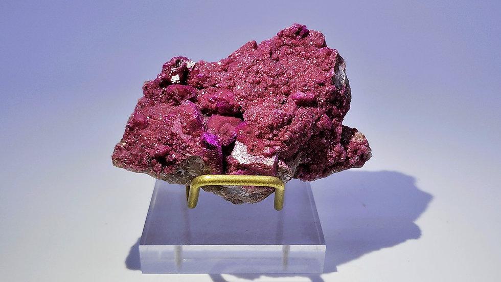 Collector's Piece: Cobaltoan Calcite on Matrix from Musonoi Mine, DR Congo