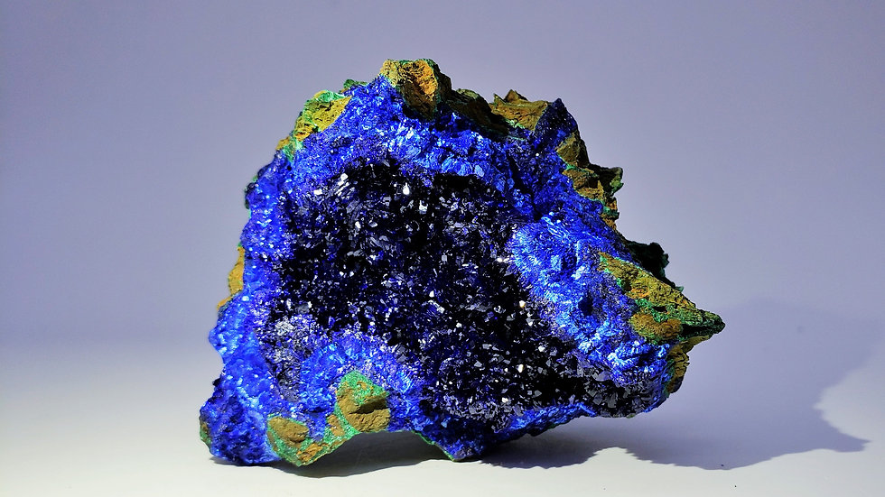 Collector's Piece: Azurite and Malachite from Liufengshan Mine