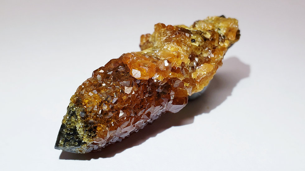 Gemmy Spessartine Garnets on Smoky Quartz from Wushan Mine, China
