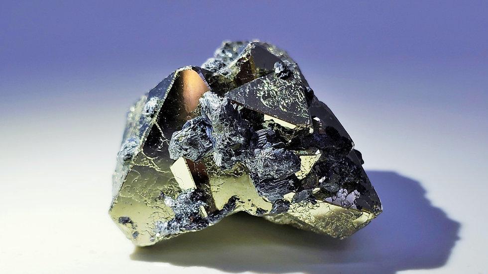 Pyrite with Hübnerite and Quartz Specimen from Huanzala Mine, Áncash, Peru