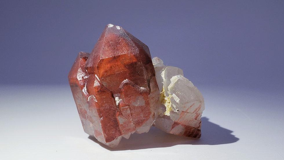 Red Hematite Phantom Quartz Cluster from Orange River, Namibia