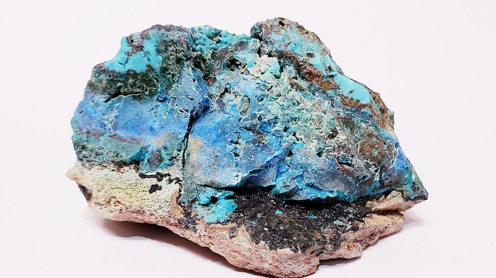 Chrysocolla Gibbsite Mineral Specimen from Guizhou, China