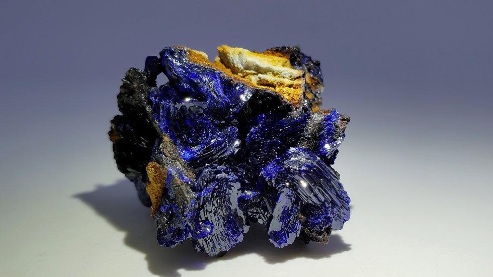 Azurite on Matrix from Sepon Mine, Laos
