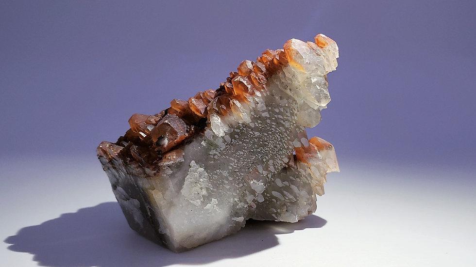 Collector's Piece: Rare Bi-color Calcite from Daye Copper Mine