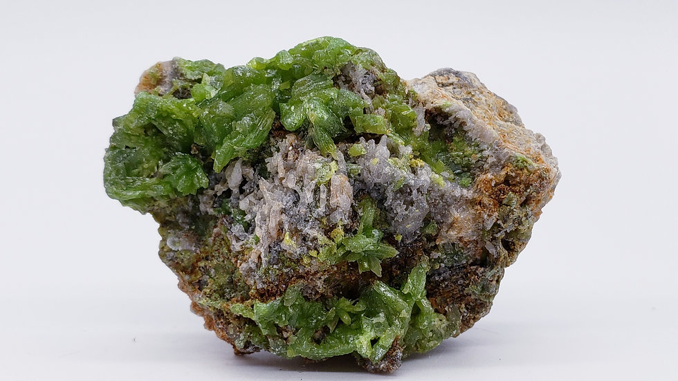 Lime-Green Pyromorphite on Matrix from Daoping Mine, China