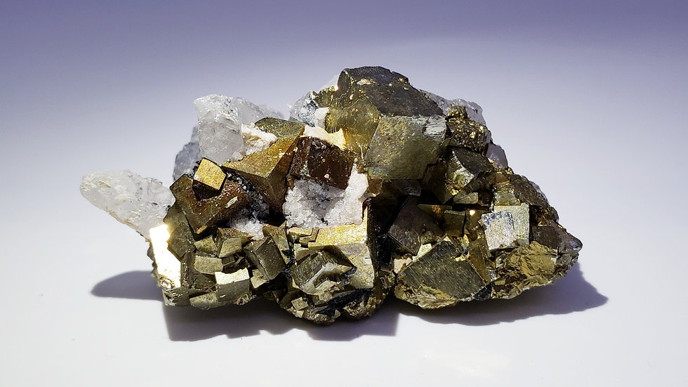 Pyrite and Quartz from Shangbao Mine