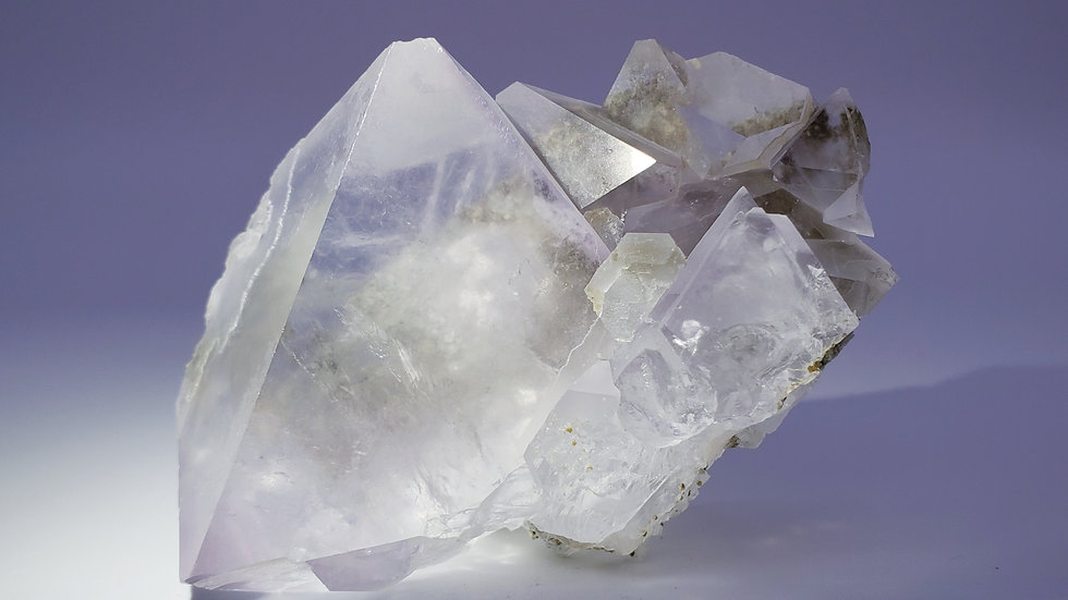 Light Pink Octahedral Fluorite Crystals Cluster from Inner Mongolia