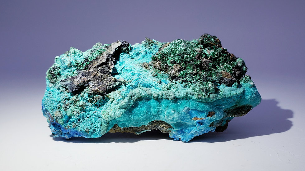 Chrysocolla Gibbsite and Malachite from Qinglong Mine