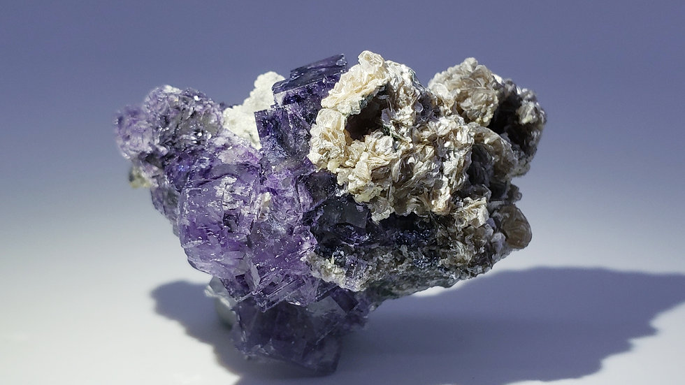 Fluorite with Muscovite and Arsenopyrite from Yaogangxian Mine