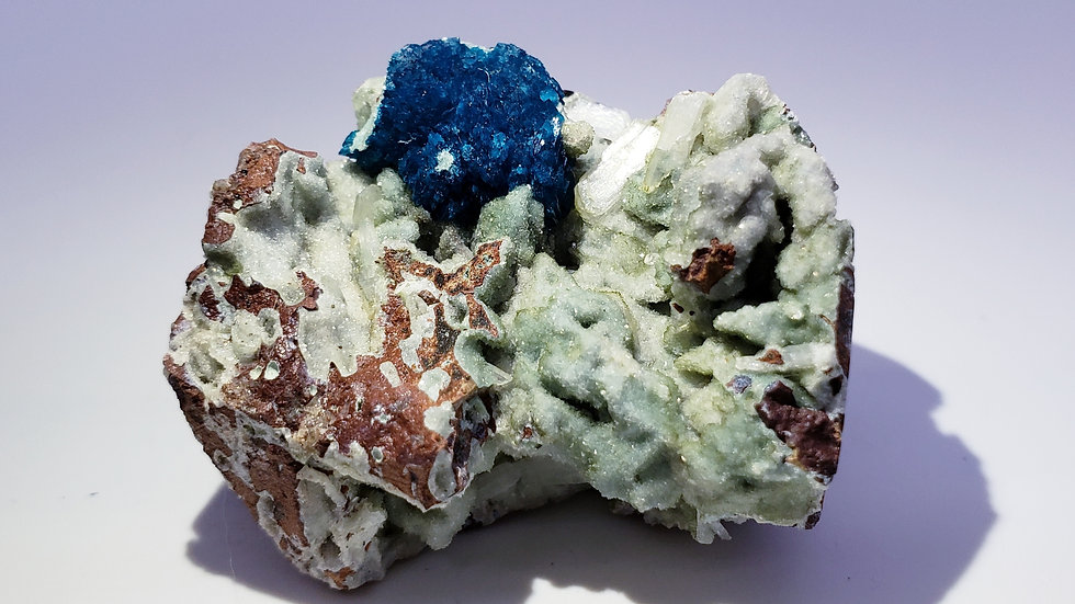 Cavansite on Stilbite Matrix from Wagholi Quarry, India