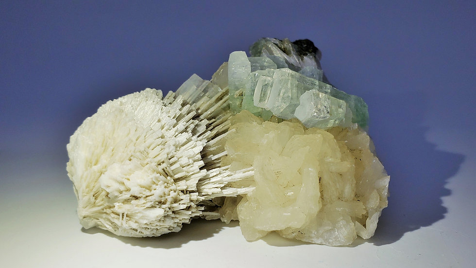Scolecite Sphere with Apophyllite and Stilbite from Rahuri, India