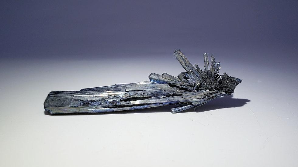Iridescent Stibnite Specimen from Xikuangshan Mine, China