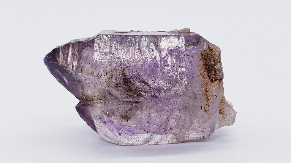 Enhydro Twin Brandberg Amethyst Smoky Quartz Crystal from Goboboseb Mt., Namibia