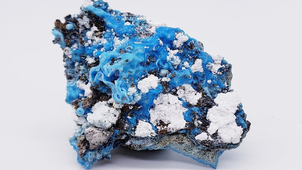 Rare Sky Blue Gibbsite on Matrix Specimen