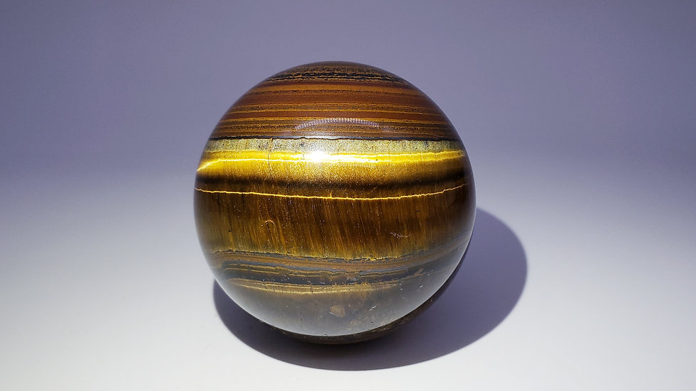 Large Tiger's Eye Crystal Sphere from Northern Cape, South Africa