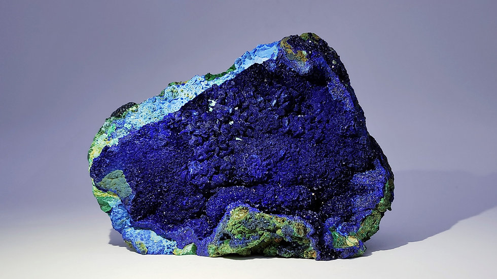 Collector's Piece: Azurite with Chrysocolla and Malachite from Liufengshan Mine