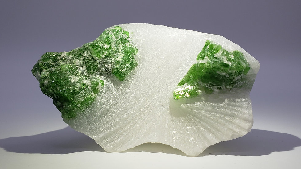 Pargasite in Marble from Luc Yen, Vietnam