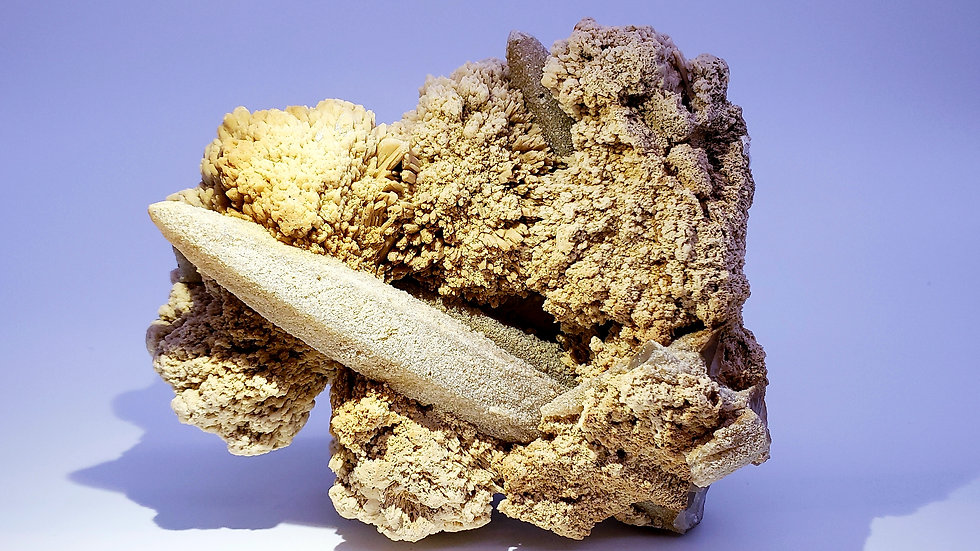 Collector's Piece: Barite (Baryte) and Smoky Quartz from Huanggang Mine