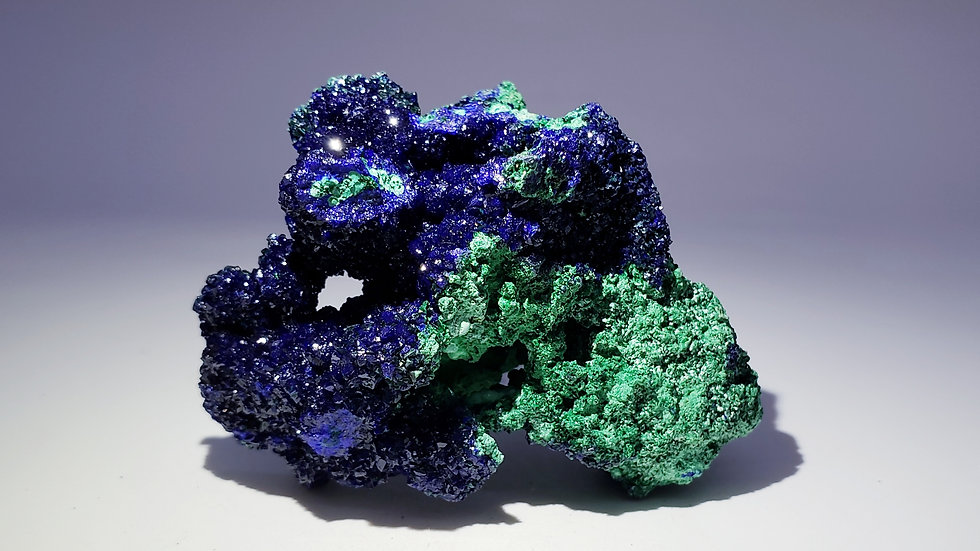 Collector's Piece: Azurite and Malachite Specimen from Sepon Mine, Laos