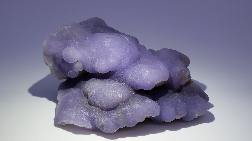 Rare Botryoidal Purple Fluorite on Matrix from Minggang Mine, Henan, China