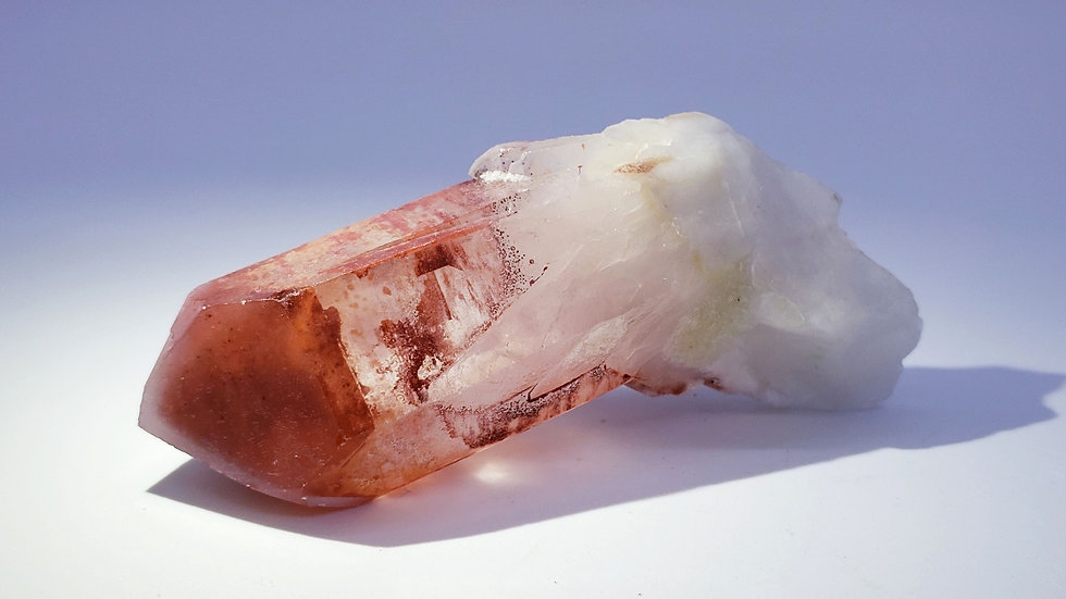 Red Hematite Included Quartz from Orange River, Namibia