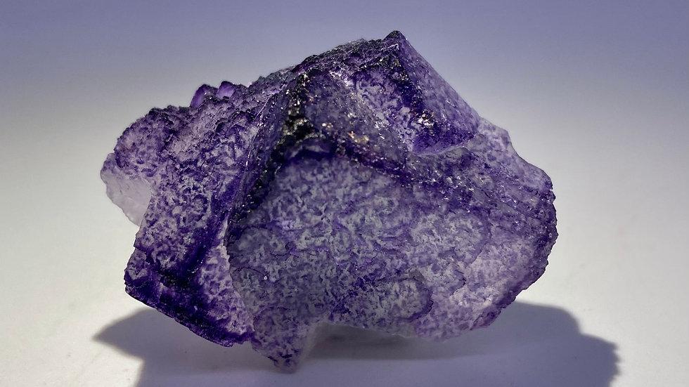 Purple Fluorite from Qinglong Mine, China