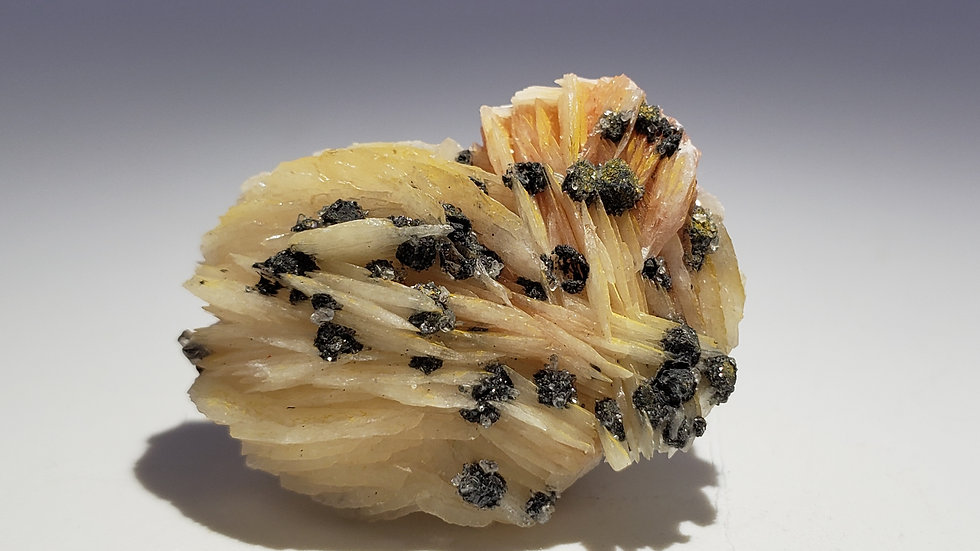 Baryte (Barite) and Cerussite from Les Dalles Mine, Milbladen, Morocco